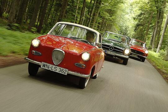 Goggomobil 250, Mercedes-Benz 250 SL und Ferrari 250 GT