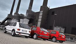 Golf GTI, verschiedene Fahrzeuge, Heck