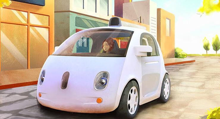 Google Auto: Das selbstfahrende Elektro-Auto aus der Suchmaschine ...