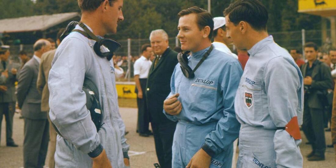 Graham Hill, Jim Clark und Bruce McLaren 1962