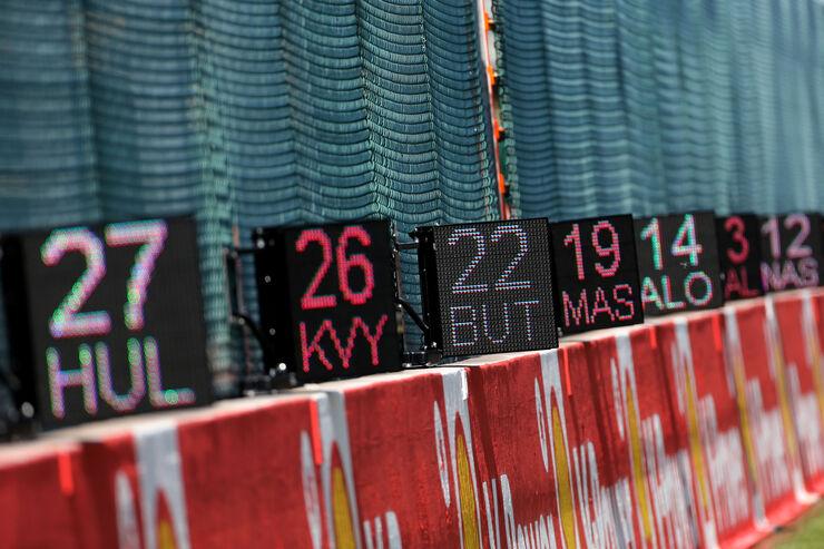 Grid-Boards - Formel 1 - GP Belgien - Spa-Francorchamps - 20. August 2015