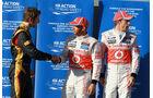 Grosjean, Hamilton & Button - GP Australien - Melbourne - 17. März 2012