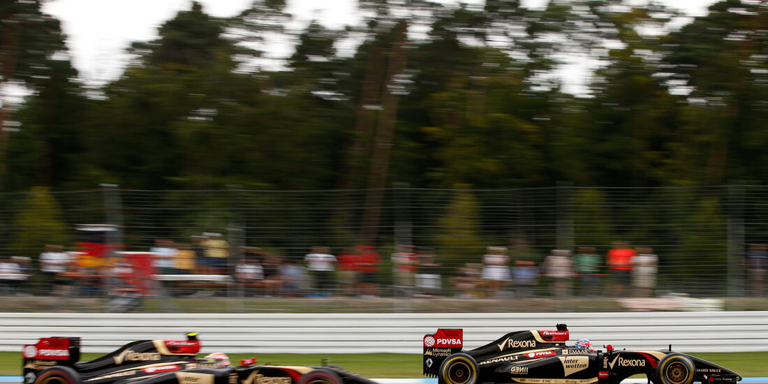 Grosjean & Maldonado - Lotus - GP Deutschland 2014