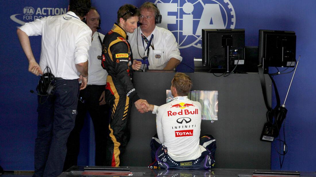 Grosjean & Vettel - Formel 1 - GP Ungarn - 27. Juli 2013