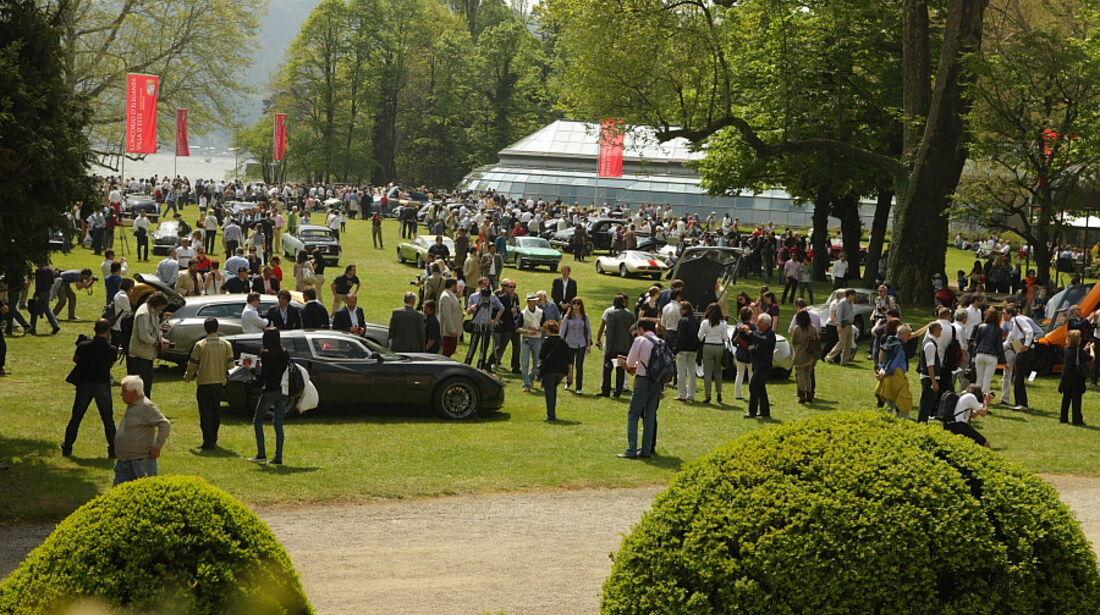 Großer Besuchenandrang in der Villa Erba Villa d'Este 2010.
