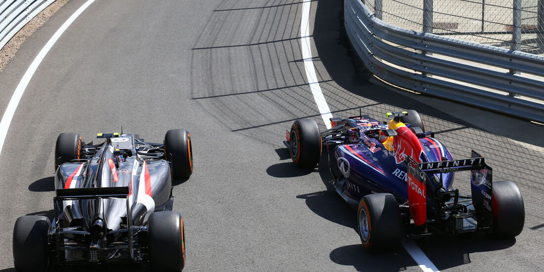 Gutierrez & Ricciardo - Formel 1 - GP England - Silverstone - 4. Juli 2014
