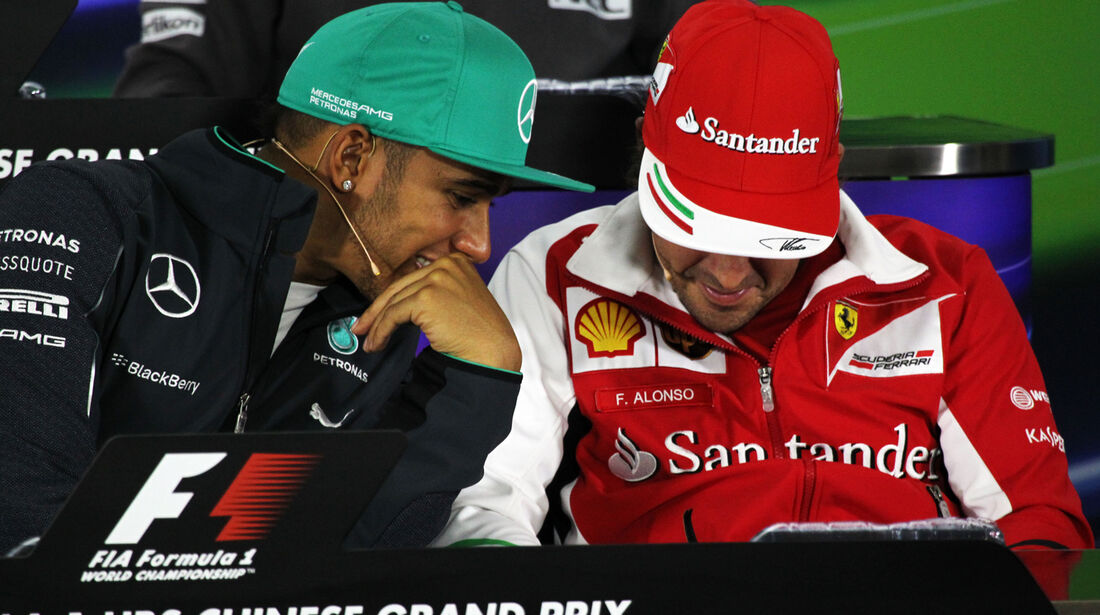 Hamilton & Alonso - Formel 1 - GP China - Shanghai - 17. April 2014
