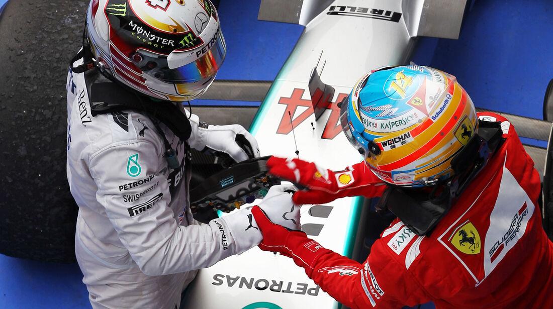 Hamilton & Alonso - GP China 2014