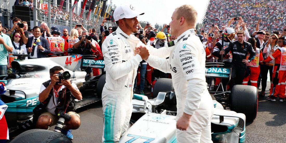 Hamilton - Bottas - GP Mexiko 2017 - Rennen