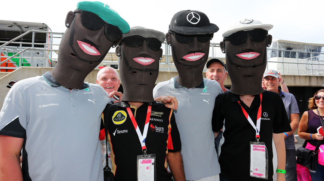 Hamilton-Fans - Formel 1 - GP England - Silverstone - 3. Juli 2014