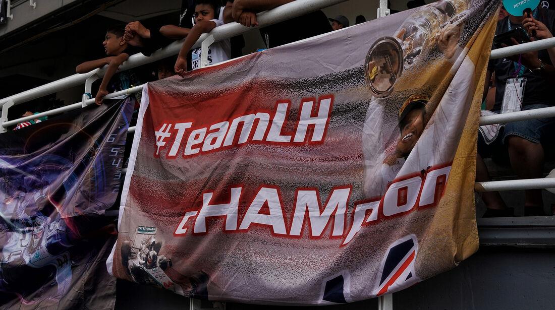 Hamilton-Fans - Formel 1 - GP Malaysia - Sepang - 30. September 2017