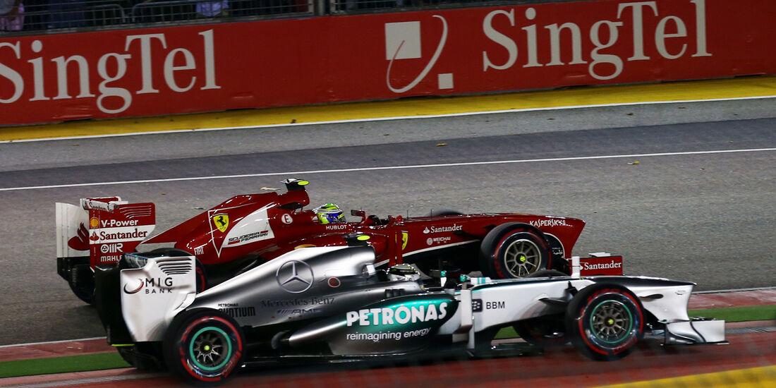Hamilton & Massa - GP Singapur 2013