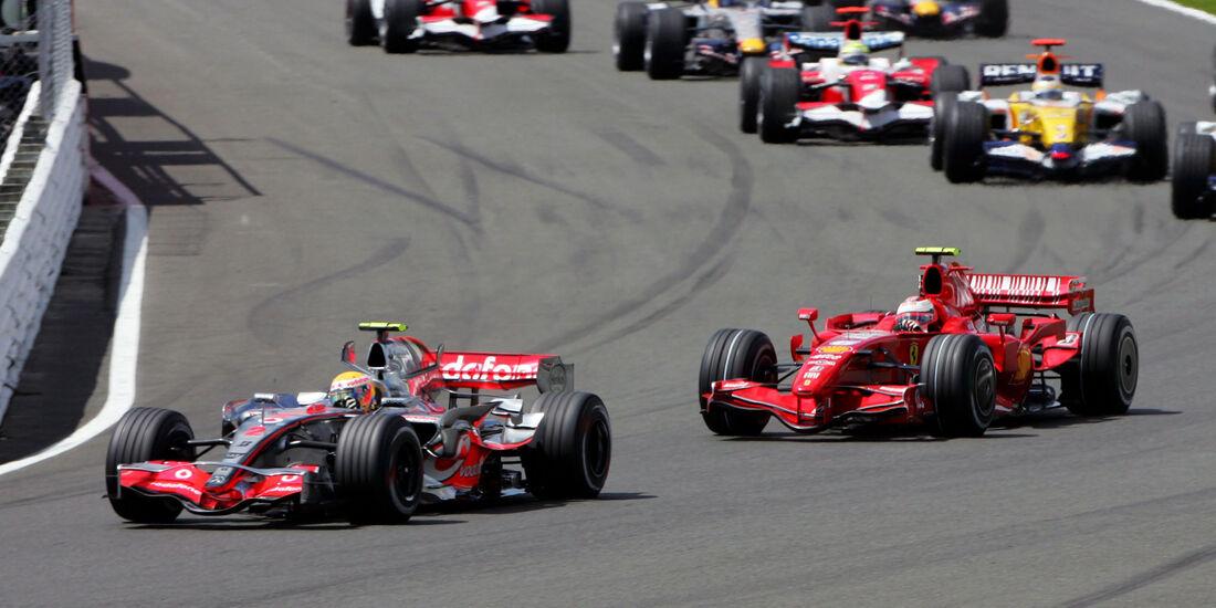 Hamilton & Räikkönen - GP England 2007