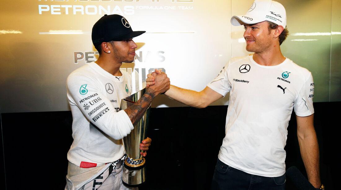Hamilton & Rosberg - GP Abu Dhabi 2014