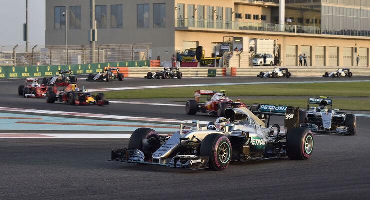 Hamilton - Rosberg - GP Abu Dhabi 2016 - Formel 1