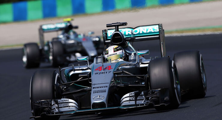 Hamilton - Rosberg - Mercedes - GP Ungarn 2015 - Training
