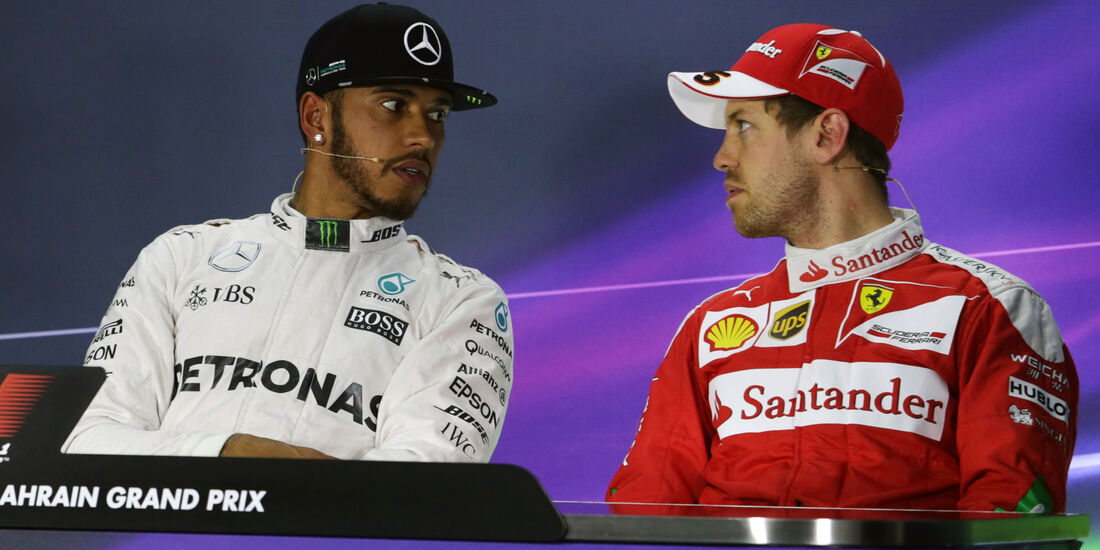 Hamilton & Vettel - Formel 1 - GP Bahrain - 2. April 2016