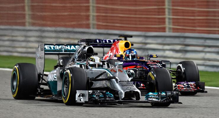 Hamilton & Vettel - Formel 1 - GP Bahrain - Sakhir - 5. April 2014