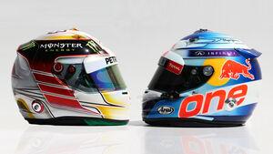Hamilton & Vettel Helm - GP Australien 2014