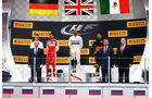 Hamilton - Vettel - Perez - Podest - GP Russland 2015 - Sochi - Rennen