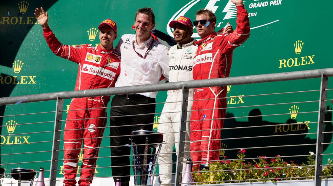Hamilton - Vettel - Räikkönen - GP USA 2017 - Rennen