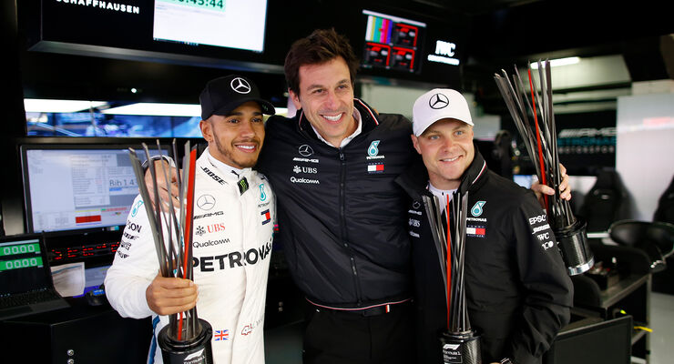 Hamilton, Wolff & Bottas - GP Spanien 2018
