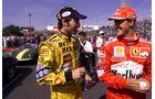Heinz-Harald Frentzen - Jordan - Michael Schumacher - Ferrari
