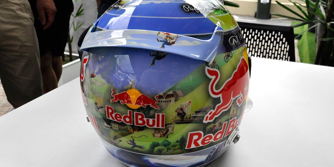Helm - Sebastian Vettel - Red Bull - Formel 1 - GP Brasilien - 21. November 2013