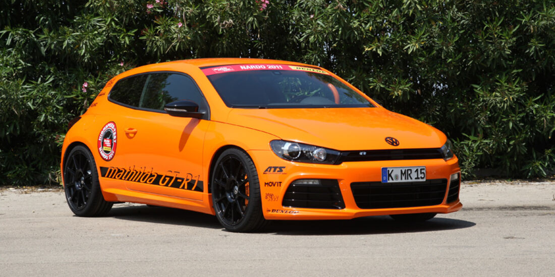 Highspeed-Test, Nardo, ams1511, 391km/h, Mathilda VW Scirocco R, Frontansicht