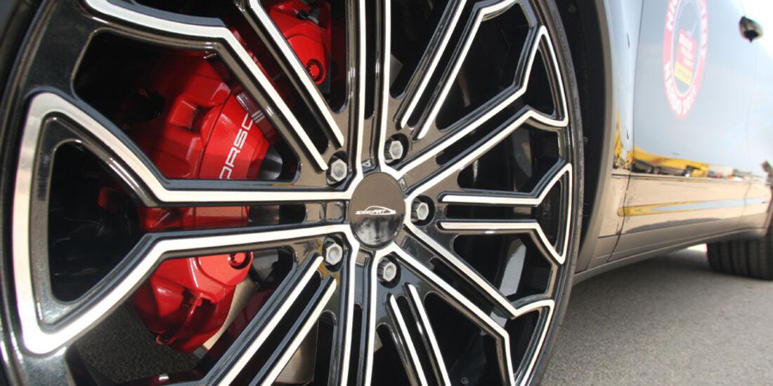 Highspeed-Test, Nardo, ams1511, 391km/h, Speedart Porsche Cayenne Turbo, Felge, Detail, Vorderrad