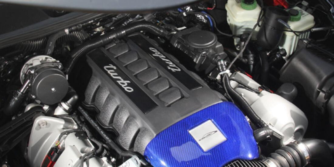 Highspeed-Test, Nardo, ams1511, 391km/h, Speedart Porsche Cayenne Turbo, Motorraum, Motor
