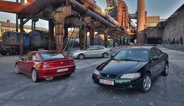 Honda Accord, Peugeot 406, Volvo C70