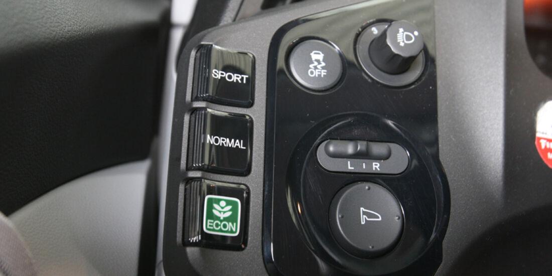 Honda CR-Z Sport, Mittelkonsole