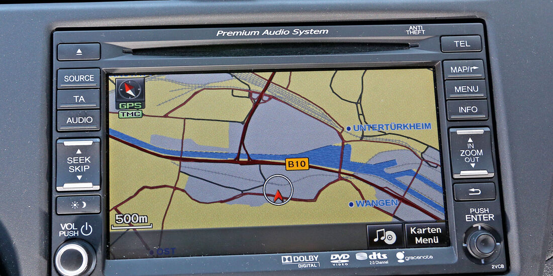 Honda Civic 1.6 i-DTEC, Navi, Bildschirm