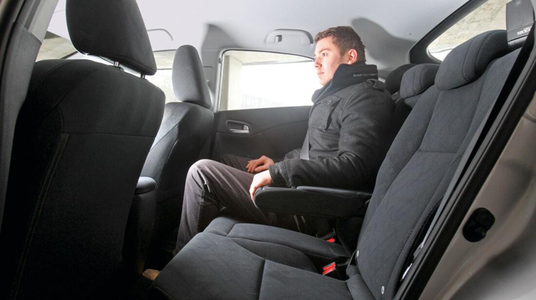 Honda Civic 2.2i-DTEC, Rücksitz, Rückbank