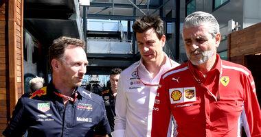 Horner, Wolff & Arrivabene - Formel 1 - 2018