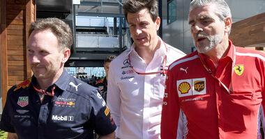 Horner, Wolff & Arrivabene - GP Australien 2018