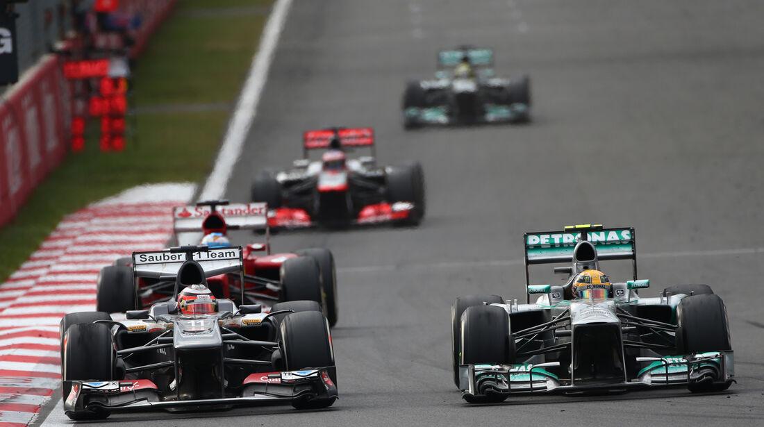 Hülkenberg vs. Hamilton - GP Korea 2013