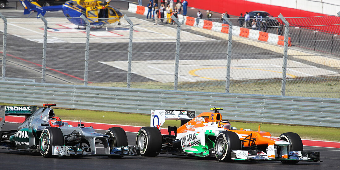 Hülkenberg vs. Schumacher Formel 1 Austin GP USA 2012