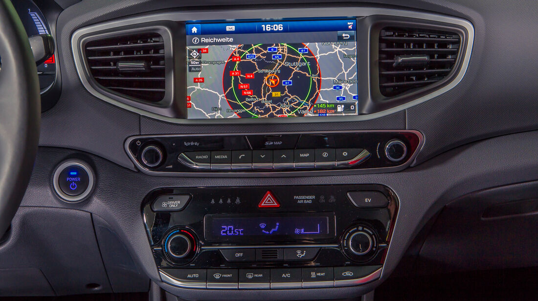 Hyundai Ioniq Elektro, Navi, Infotainment