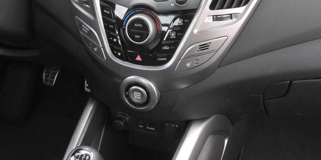 Hyundai Veloster Blue 1.6, Mittelkonsole