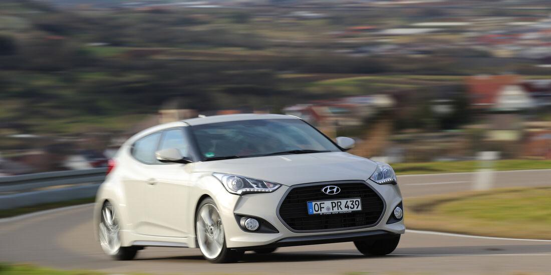 Hyundai Veloster, Frontansicht