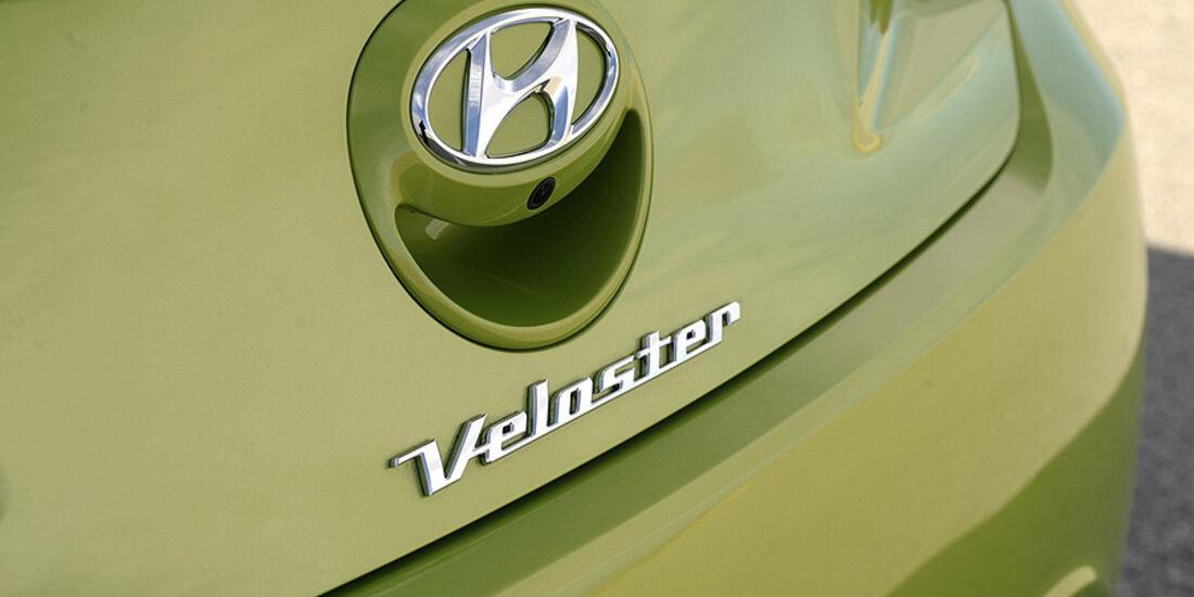 Hyundai Veloster, Heckklappe,Logo