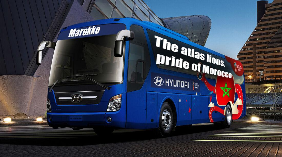 Hyundai WM-Busse Slogan Marokko