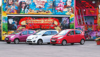 Hyundai i10 1.1 Style, Reault Twingo 1.2 16V Night & Day, Suzuki Alto 1.0 Club, Gruppenbild, Rummel