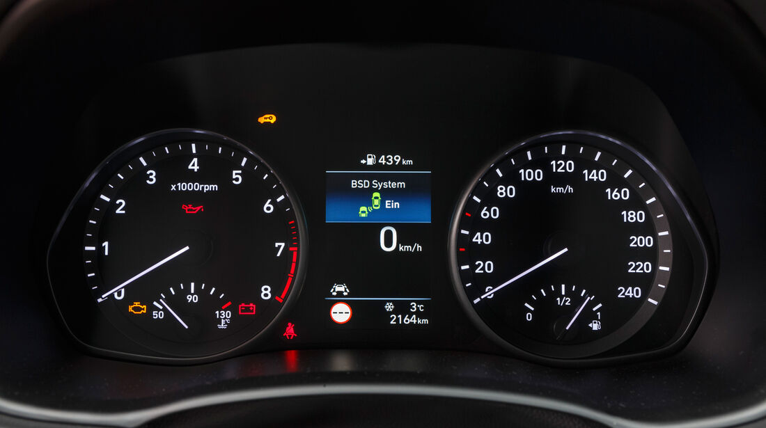 Hyundai i30 1.0 T-GDI, Rundinstrumente