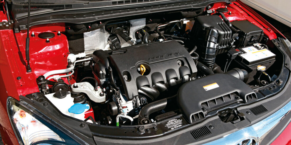 Hyundai i30 1.6i, Motor, Motorraum