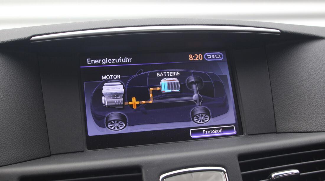 Infiniti M35h GT Premium, Display, Antrieb