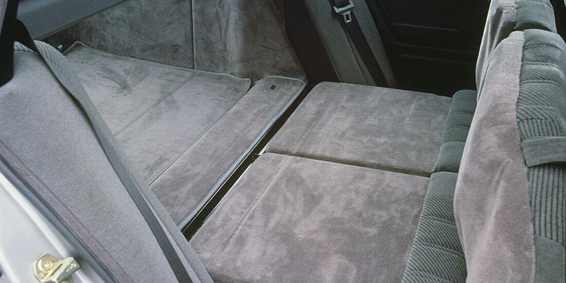 Innenraum BMW 3er Touring - umklappbare Rücksitze