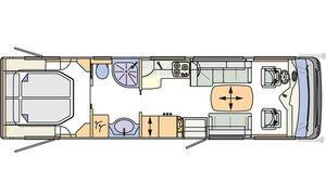 Innenraum-Check Concorde Liner Plus 940 M, Grundriss